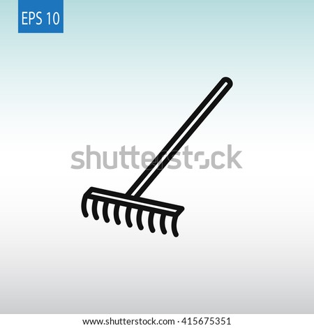 Rakes icon. Rakes icon Vector. Rakes icon Art. Rakes icon eps. Rakes icon Image. Rakes icon logo.Rakes icon Sign. Rakes icon Flat. Rakes icon design.Rakes icon app. Rakes icon UI - stock vector