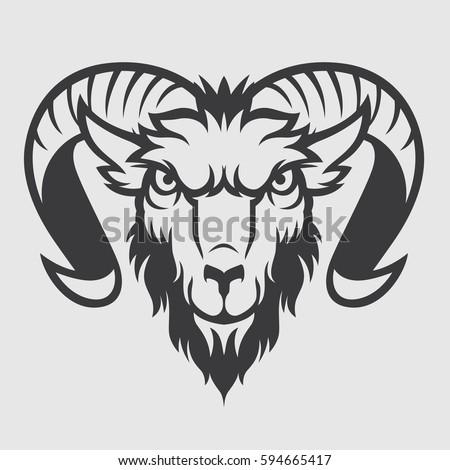 Ram Goat Sheep Head Mascot Logo