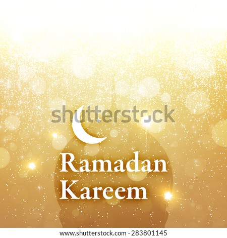 Ramadan Greeting Card Design for Holiday. - stock vector