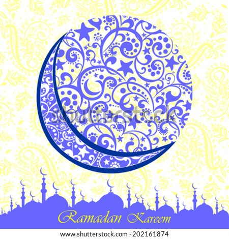 Ramadan greetings arabic script islamic greeting stock vector ramadan greetings in arabic script an islamic greeting card for holy month of ramadan kareem m4hsunfo