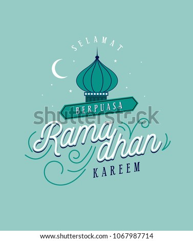 Ramadan greetings template malay words that stock vektr 1067987714 ramadan greetings template with malay words that mean happy breaking fast blessed m4hsunfo