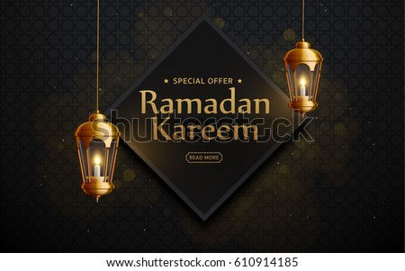 ramadan kareem background, lanterns,holiday, vector illustration eps 10