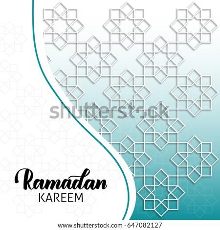 Arabicislammuslim cardspattern templatesvector banners setoriental ramadan kareem background ramadan kareem greeting card with muslim islamic art web template stopboris Gallery
