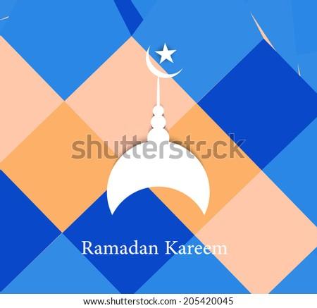 Ramadan Kareem colorful vector background - stock vector