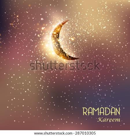 Ramadan Kareem easy all editable - stock vector
