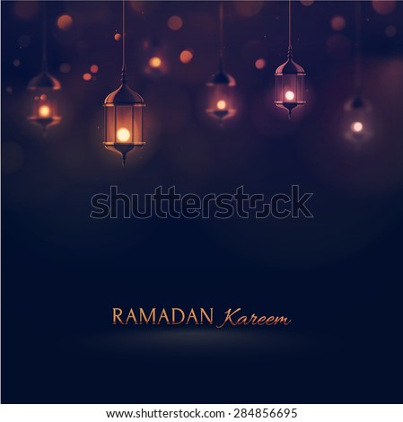 Ramadan Kareem, greeting background, eps 10 - stock vector