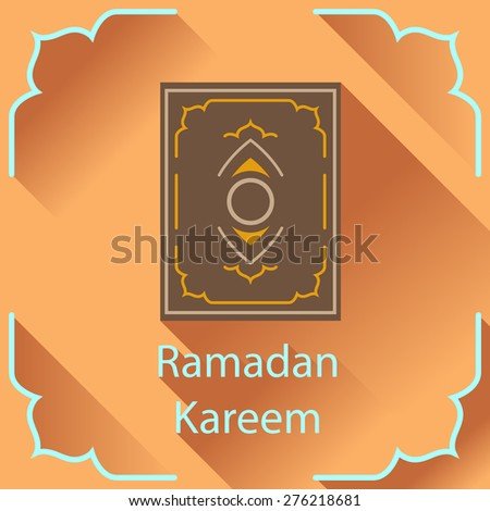 Ramadan Kareem greeting card. Islamic design element. - stock vector