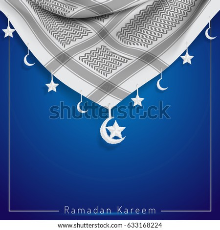 Ramadan kareem islamic design greeting card vector de stock633168224 ramadan kareem islamic design greeting card with realistic vector traditional arabic scarf for banner background malvernweather Image collections