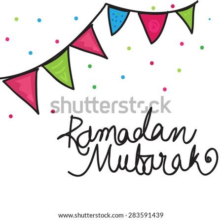 Ramadan mubarak - stock vector