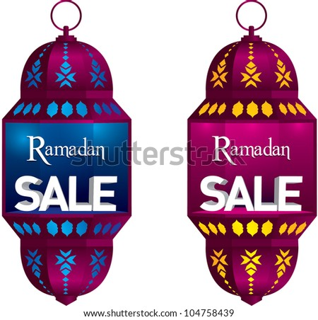 Ramadan Sale Danglers - stock vector