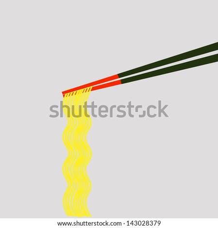 ramen - stock vector