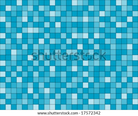 random blue squared tiles - stock vector