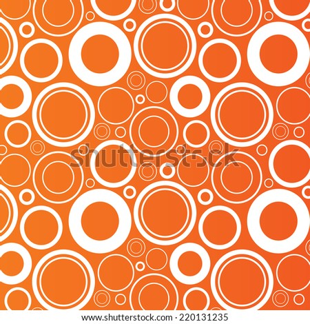 Random circles pattern background. Abstract wallpaper with round objects. Orange background. Vector - stock vector