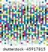 Random colored square mosaic - stock photo