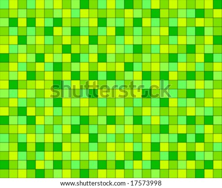 random green squared tiles - stock vector