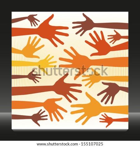 Random hand pattern.  - stock vector