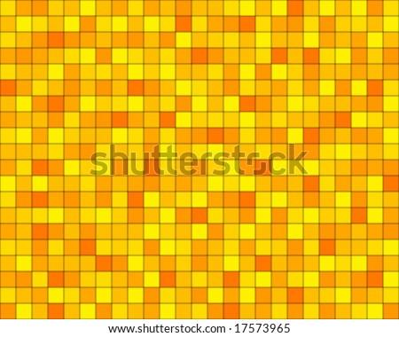random orange squared tiles - stock vector