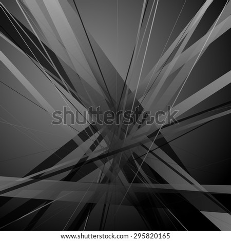 Random, overlapping lines. artistic abstract vector background. - stock vector