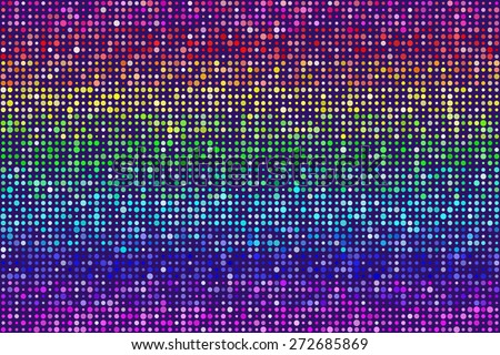 Random Rainbow Dots Pattern Seamless Background. EPS8 Vector - stock vector