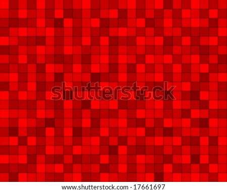 random red squared tiles - stock vector