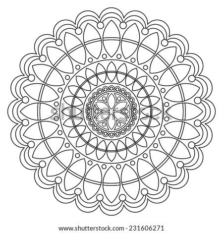 Vector Rangoli Design Stock Henna Mandala Design Vector