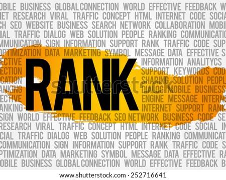 Rank word cloud, business concept - stock vector