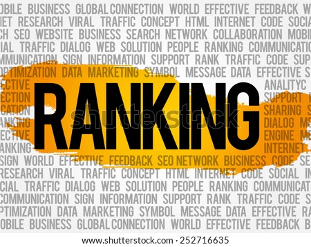 Ranking word cloud, business concept - stock vector