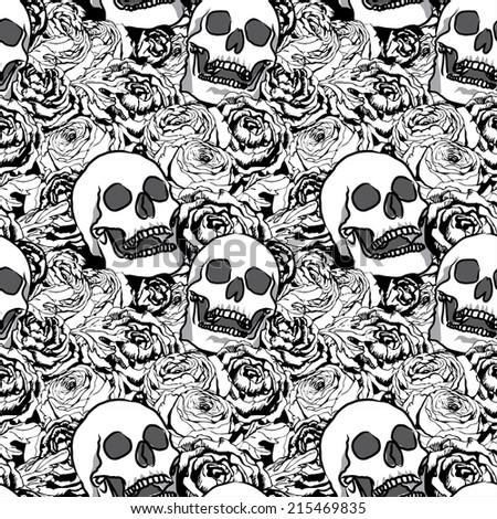 skull knit pattern stock vector 213870601 shutterstock