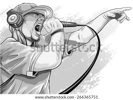 rapper - stock vector