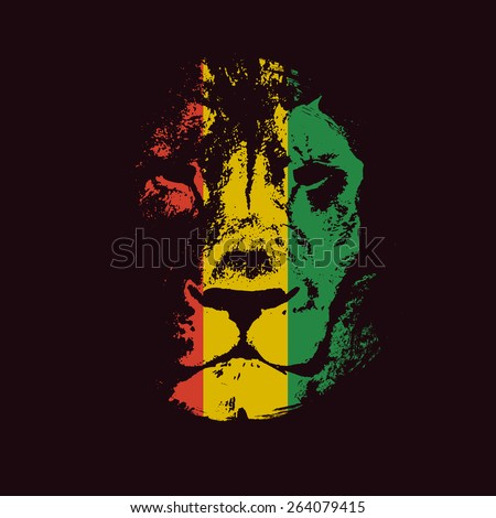 Rasta background. Vector illustration. Vector background. - stock vector
