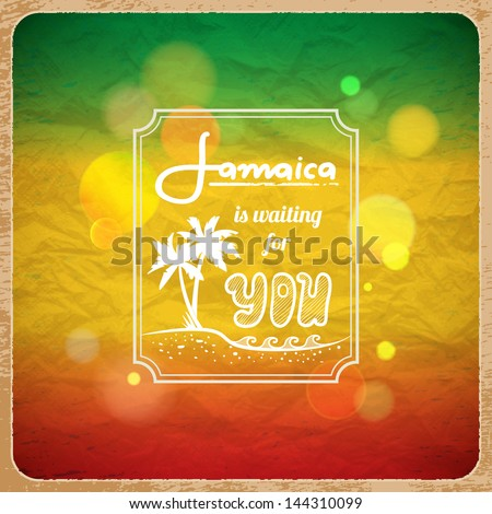 Rastaman vacation poster. Vector background - stock vector