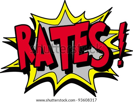 rates - stock vector