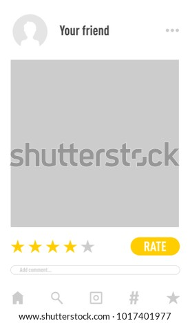Rating App Concept Photo Frame Vector Stock Vector 1017401977 ...