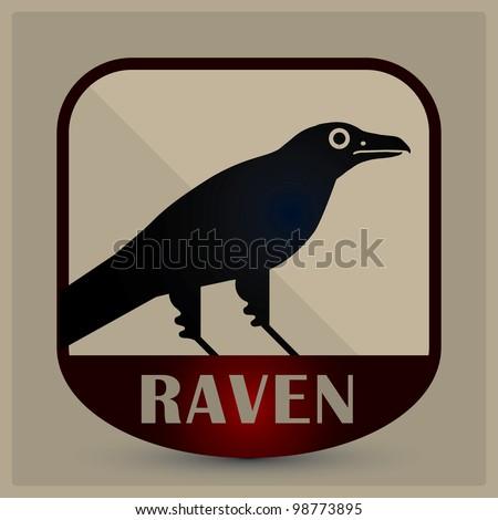 raven emblem - stock vector