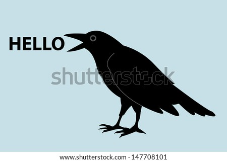 raven template vector/illustration - stock vector