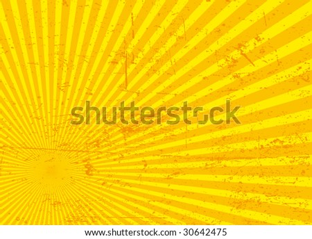 ray grunge background - stock vector