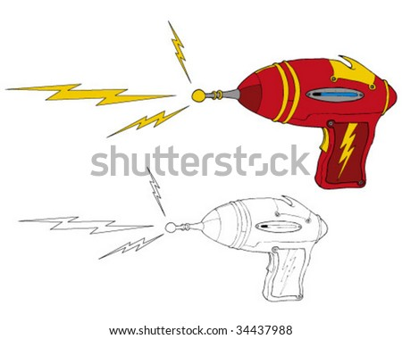 ray-gun - stock vector