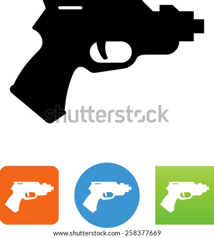 Ray gun symbol for download. Vector icons for video, mobile apps, Web sites and print projects.  - stock vector