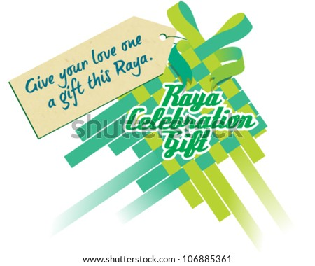 Raya Celebration Gift - stock vector