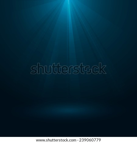 Rays of light flowing down. Abstract magic light background. Vector illustration, eps 10. - stock vector