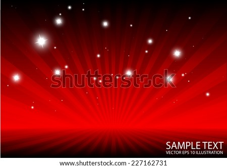 Rays spreading abstract red background vector template - Abstract vector burst red background illustration - stock vector
