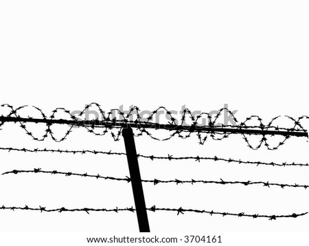 Razor Wire Fence - stock vector