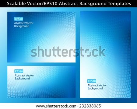 Re-sizable Abstract Business Blue EPS10 Vector Background Templates with dot swirls and plenty of text space.  - stock vector