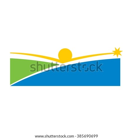 reach star logo vector. success people icon.