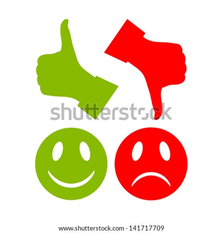Reaction vector symbols - stock vector