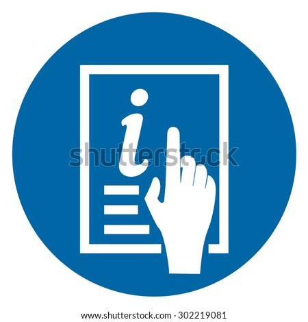 Read Instructions Symbol Vector Icon Vectores En Stock 302219081