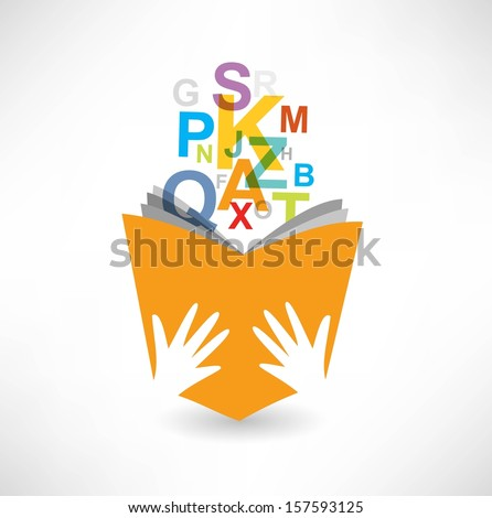Reading the book icon - stock vector