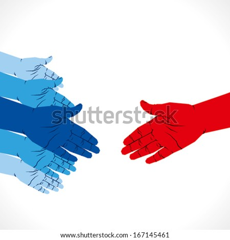 ready for hand shake or partnership concept background vector - stock vector