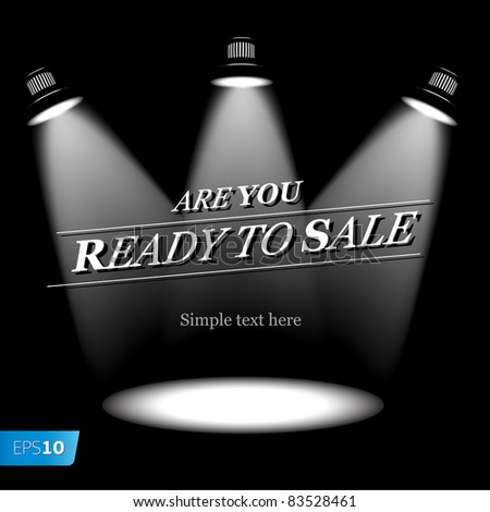 Ready to sale. Vector eps10 image - stock vector