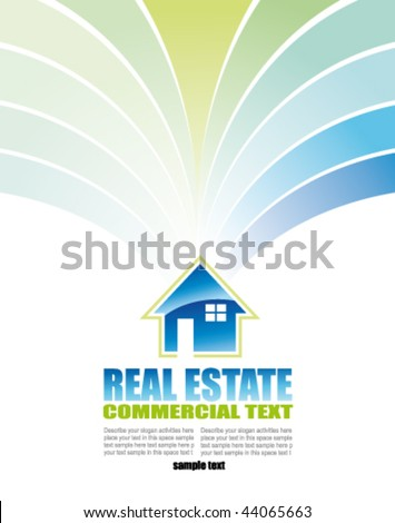 Real Estate Abstract Colorful Business Card - stock vector